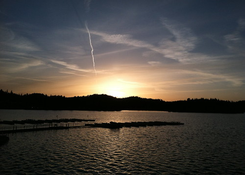 Good Friday sunset over the lake