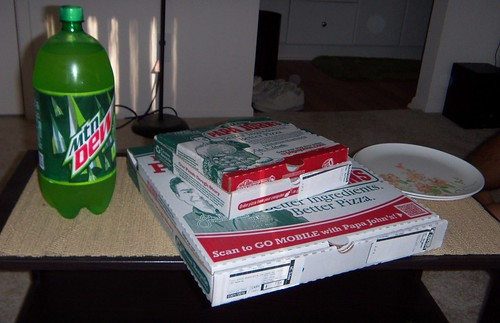 Soda, wings, pizza