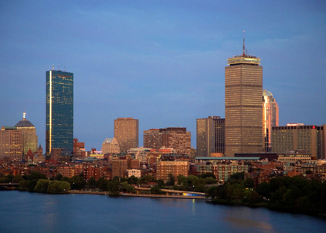 City at Dusk, Boston (seen from Cambridge), Credit: David Fox