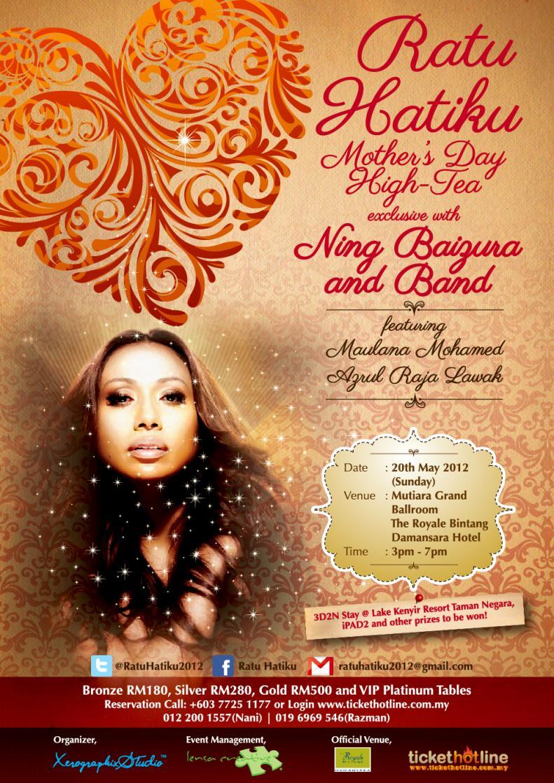 Ratu Hatiku' Mother's Day High-Tea exclusive with Ning Baizura