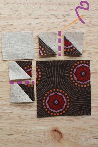Step 7: Sew both sets of HST Squares together