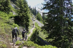 Mountain bikers at the Chamonix Adventure Festival