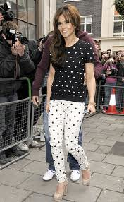 Cheryl Cole Clashing Prints Celebrity Style Women's Fashion
