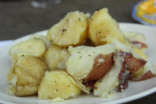 Boiled Potatoes with Olive Oil and Butter