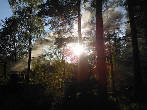 Solecito y humo del sauna
