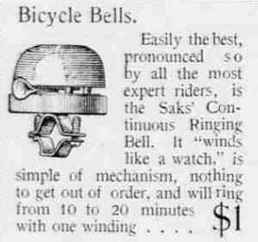 1898 Bike Bell ad