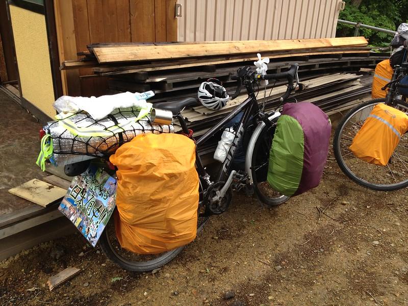 日本一周チャリダー金沢君の自転車 その2
