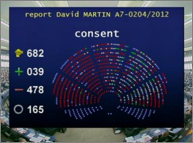 Copie d'écran du résultat du vote
