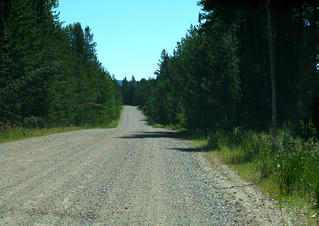 Flagg Ranch Road from the Idaho side