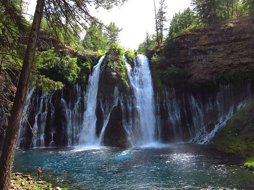 Fisherman at Burney Falls