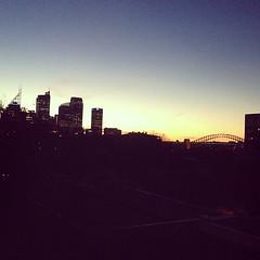 Sunser over the Sydney Harbour Bridge