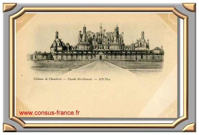 Château de CHAMBORD_Facade Méridionale -70-150