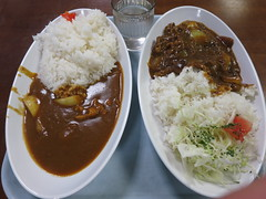 Curry by Cafeteria in Nihon University.