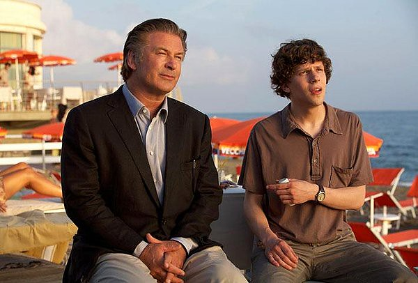 Alec Baldwin and Jesse Eisenberg do the Woody Allen thang.