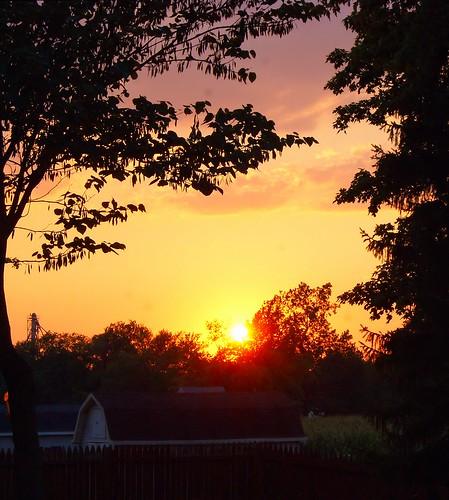 trees sunset ohio summer sky orange sun clouds evening dusk sony july alpha 2012 a230 fairfieldcounty stoutsville ohiofoothills