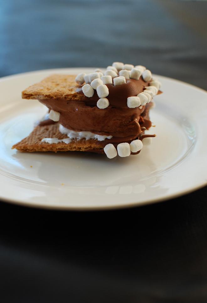 s'mores ice cream sandwich