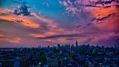 New York Sunset Manhattan Skyline