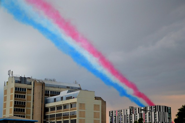 The Contrails of Red Arrows