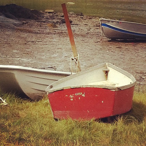 little red boat #maine #morning