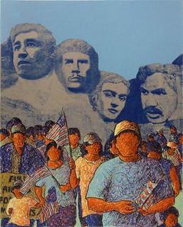 La Marcha de los Desvalidos (Serie Project XVII | Latino Art Studio Screen Print)