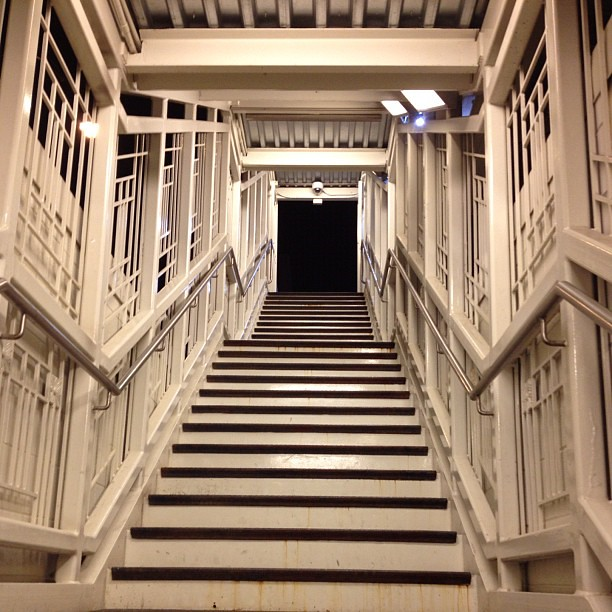 Stairs at Irving Park brown line #nofilter