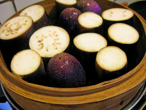 chinese, eggplant, garlic, steamed, vegetable, 蒜蓉, 蒸, 茄子
