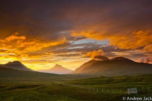 sunset landscape scotland dusk sony alpha ullapool stacpollaidh a900