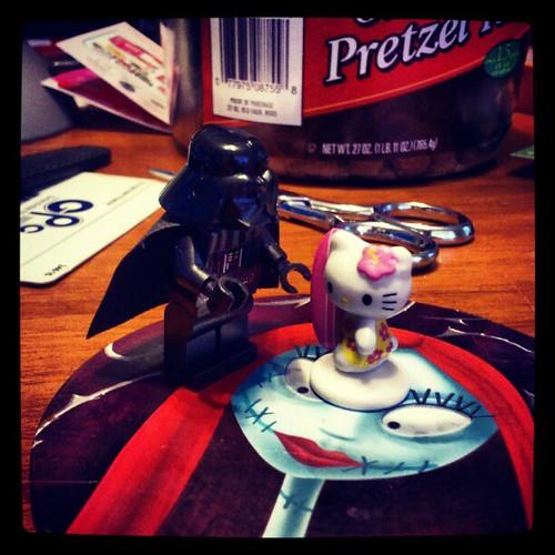 Darth Vaders new apprentice? #hellokitty #starwars