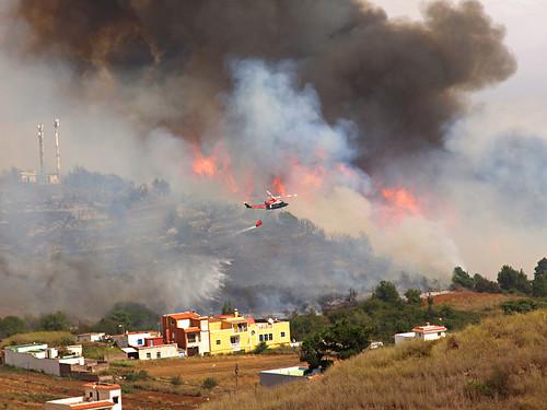 Fires in El Tanque, Tenerife