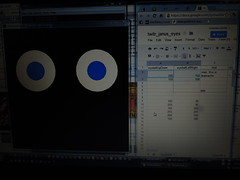 Twitr_janus eyes controlled by Google spreadsheet data