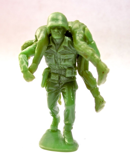Marx Mx459 And Mx460 Green Army Men Plastic Soldiers