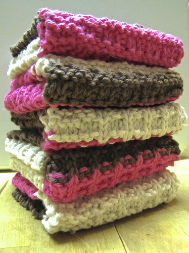 Chocolate, Vanilla, & Strawberry Washcloths