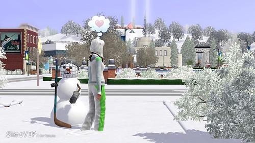 hockey player snowman