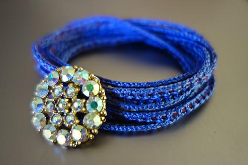 Simple Lucet Cord Bracelet with Gimp