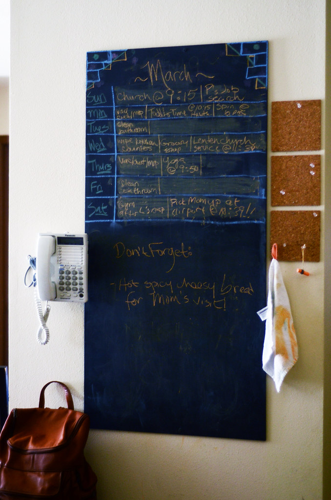 Life Hacks: Chalk Board Calendar