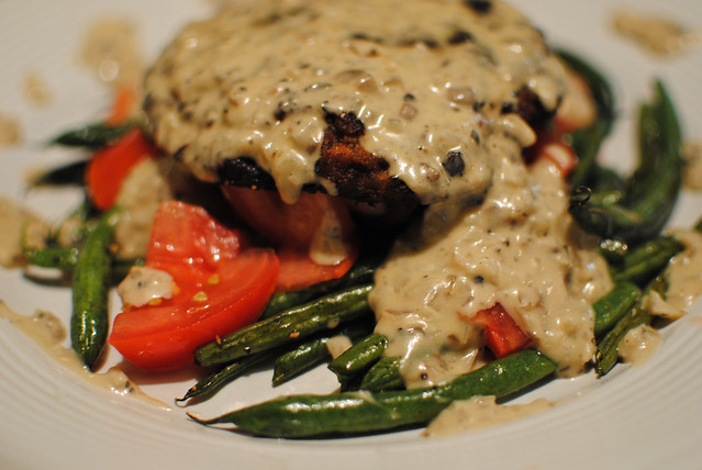 "[106/365] ""Chicken Fried"" Portobello with Mushroom/Shallot Gravy"