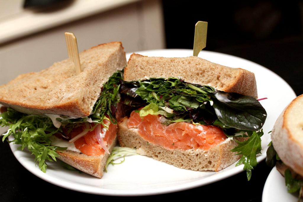 Sarnies @ Telok Ayer Street's Smoked Salmon Sandwich