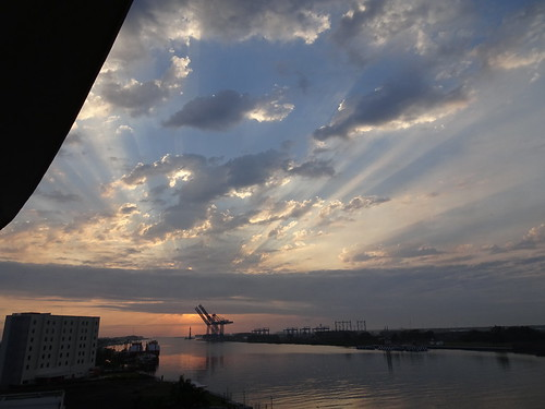 clouds sunrise river mexico hotel view mirador crowneplaza tuxpan