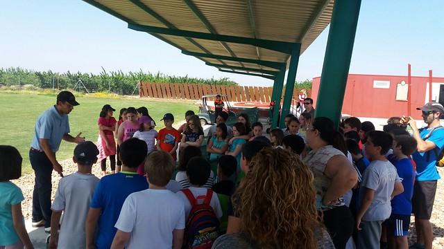 Actividades medioambientales y deportivas para escolares en la finca municipal Quinto Coto