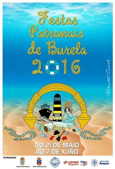 Burela 2016 - Festas Patronais - cartel