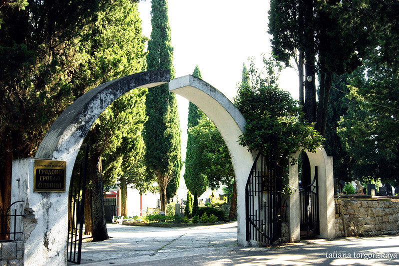 Ворота кладбища Савина