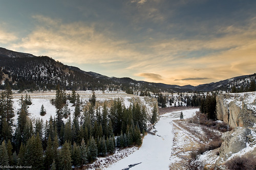 winter snow sunrise landscape frozen colorado hinsdalecounty lakeforkofthegunnisonriver