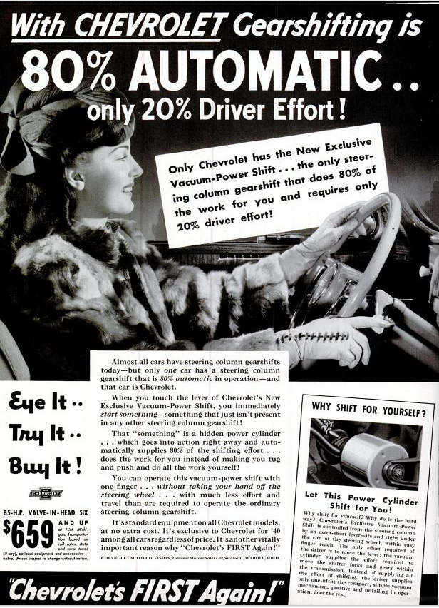Chevrolet 1939 ad