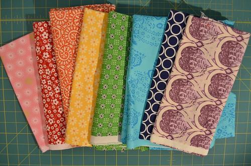 Wonky Star back - pick a rainbow of fabrics