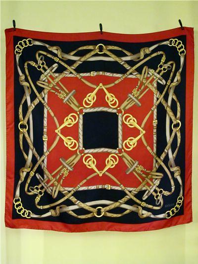 """Basler"" designer silk scarf. Classic!"