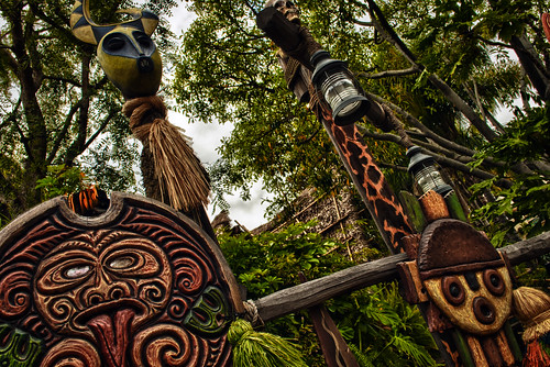 Never Throw Your Shoe At A Tiki Fence by hbmike2000
