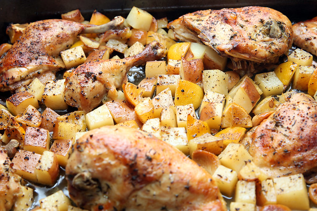 Slow Roasted Garlic and Lemon Chicken
