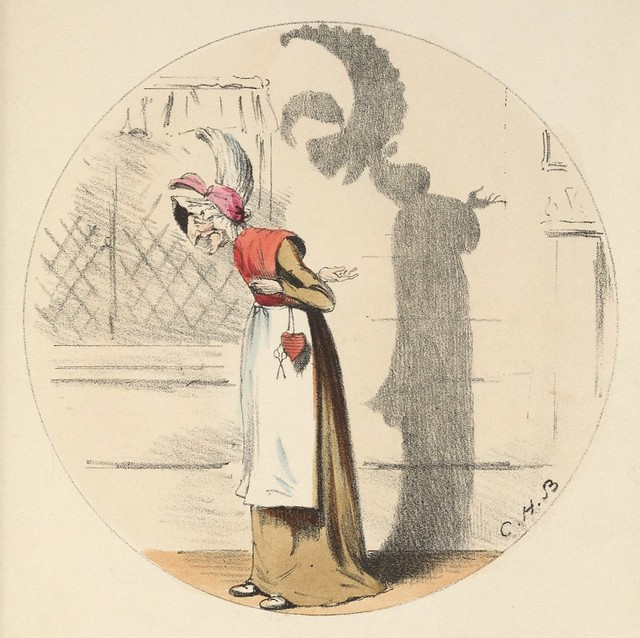 An old fashion (1850s coloured lithograph by CH Bennett)