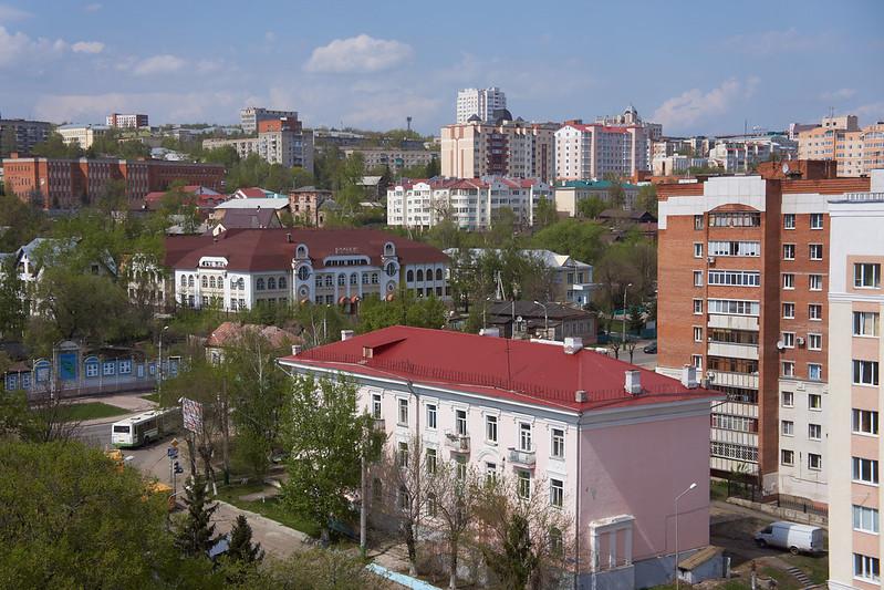 Вид с крыши завода Электромеханика, Гоголя 51/53