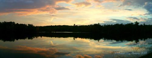 sunset lake water panoramic